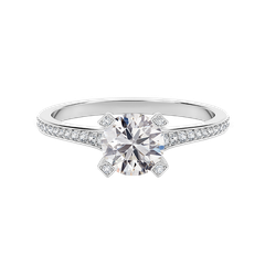 Forevermark Cornerstones™ Pavé Solitaire Ring